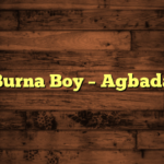 AUDIO - Burna Boy – Agbada